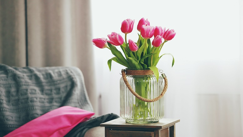 A Flower vase in a room