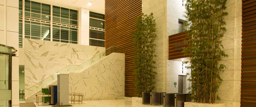 Indiabulls Finance Centre - Entrance Stairways